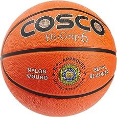 Cosco Hi-Grip Basket Balls, Size 6 (Orange)