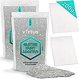 v1rtus zilver glitter verf additief [200g] Nieuwe 2021 - 2 x Afwerkbuffingskussens inbegrepen - Mix met een op water gebaseer