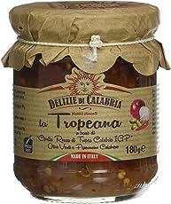 Delizie di Calabria Tropeana Condimento Poco Piccante a Base di Cipolla Rossa - Pacco da 12 x 180 g