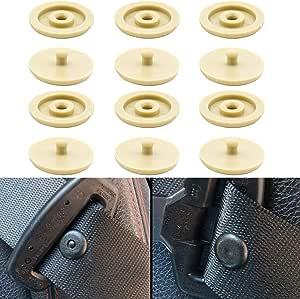 Beige Universal Gurt Knopf Aus Hartplastik Gleiche Qualität Wie Original Ersatzteile Geeignet Für Alle Kfz Marken Gurt Rücklauf Sperre 6er Pack Sicherheitsgurt Stopper Autogurt Niete Auto