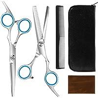 MixMart Profi Haarschere Set, Rostfrei Friseurschere Effilierschere zum Ausdünnen und Strukturieren Scharfe Schere Haare…