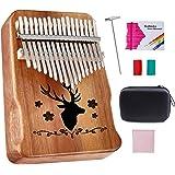 Topnaca Kalimba 17 Clés Pouce Piano Professionnel De Haute Qualité, Doigt Piano Instrument de Musique avec accordeur et…