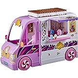 Disney Princess Comfy Squad godisryggsäck, lekset med 16 tillbehör, lekglasskiva, leksak för flickor från 5 år