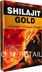 Shilajit Gold for Strength, Stamina and Power - 10 x10 =100 Capsules