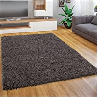 Paco Home Tapis Shaggy Longues Mèches en Différentes Tailles Et Coloris, Dimension:40x60 cm, Couleur:Anthracite