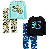 Simple Joys by Carter's 4-Piece Polyester Pajamas Niños, Pack de 4