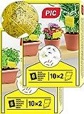 PIC – 40 kleine Gelbsticker, Gegen Trauermücken, Blattläuse, Minierfliegen, Thripsen und weiße Fliegen – perfekt gegen…