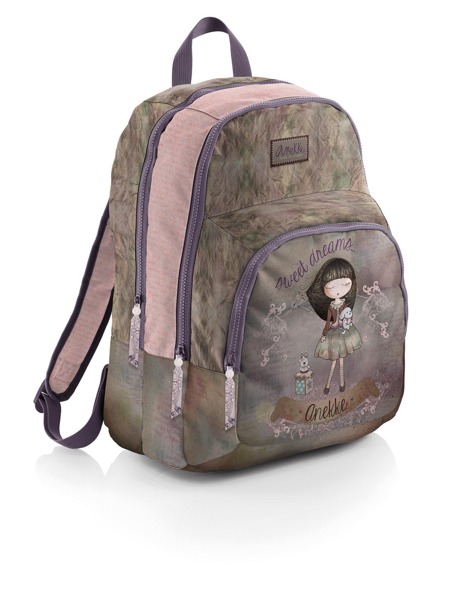 Sweet 12 Liters, Anekke Schulrucksack//Backpack mit 2 Rei/ßverschlussf/ächern Sweet Mochila Tipo Casual 35 cm