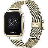 TRUMiRR bandjes compatibel met Garmin Venu/Venu Sq en Sq Music, horlogebandje geweven, metalen horlogeband met Quick Release,
