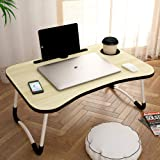 Story@Home foldable portable adjustable multifunction laptop study lapdesk table for breakfast serving bed tray office work g