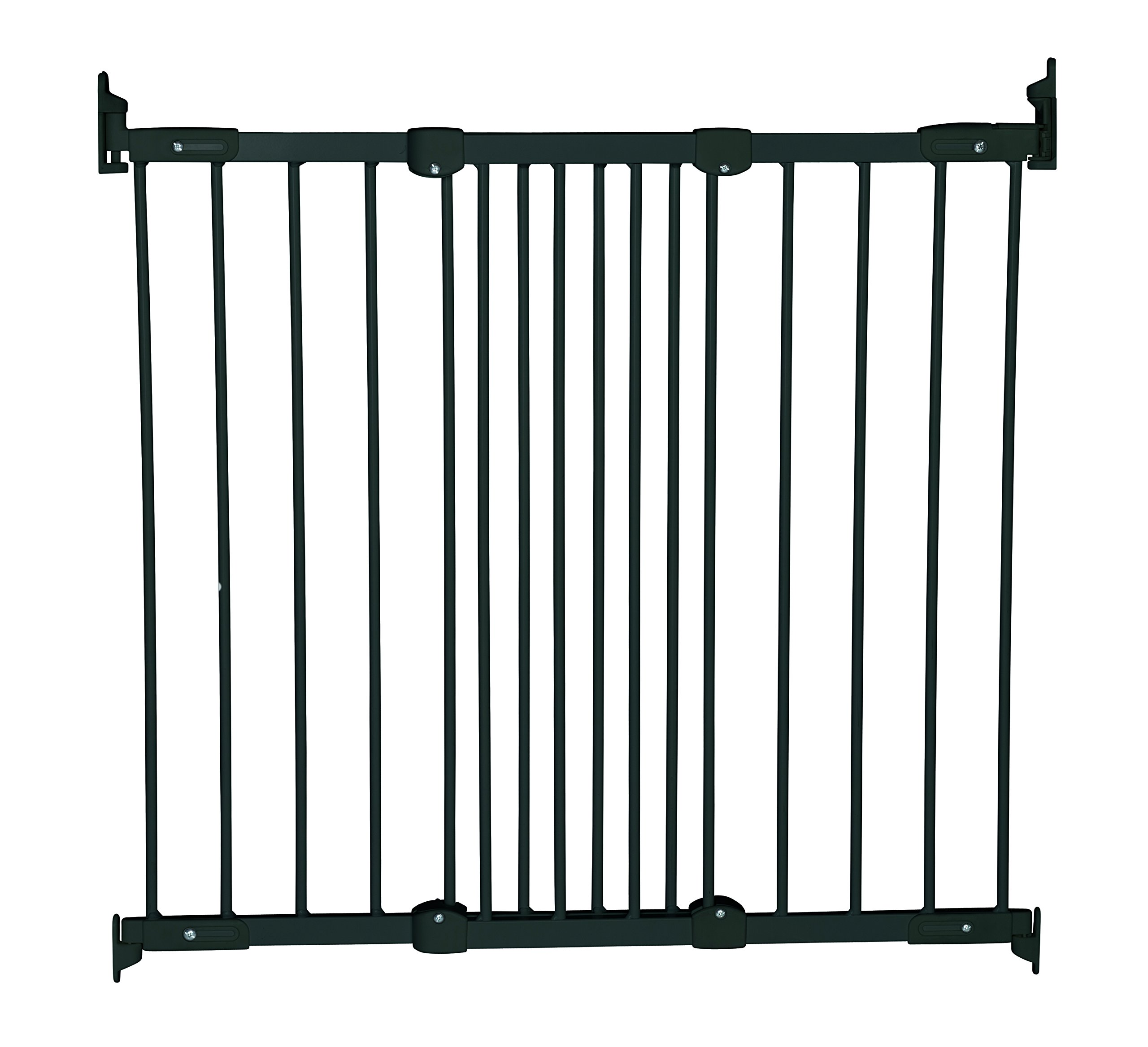 Baby Dan Flexi Fit Metal 55116 – 2600-10  Fit stair gate is super flexible Fits in almost every opening Can be both inside and outside of the door frame mount 1