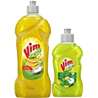 Vim Dishwash Liquid Gel Lemon 750 ml + Dishwash Anti Smell Liquid Pudina 500 ml Combo Pack