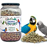 Ultivita Parrot Food Treat Herbal pellets for African Grey, eclectus, Macaw,Hyacinth,Cockatoo - 500 gm