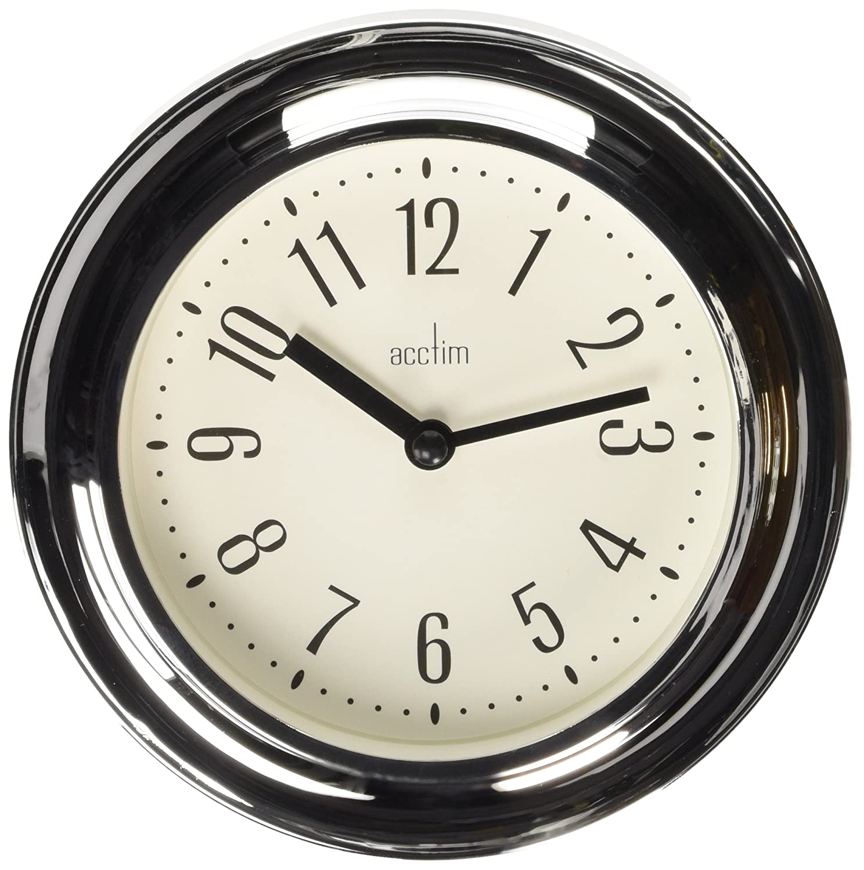 Acctim 21737 riva wall clock chrome amazon kitchen home amipublicfo Choice Image