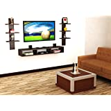 Anikaa Crystal TV Entertainment Wall Unit/Set Top Box Stand Wenge (Large)