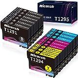Hicorch Cartuccia T1295 Multipack Compatibile con Cartucce Epson T1291 T1292 T1293 T1294 per Epson SX235W SX420W SX430W SX440
