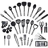 Ensemble de 40 pièces par KRONENKRAFT - set de cuisine en acier inoxydable et nylon, ensemble de gadgets de cuisine, set de cuisine, batterie de cuisine, ustensiles de cuisine, équipement d'origine,