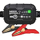NOCO GENIUS2EU, caricabatterie automatico professionale inteligente portatile 6V e 12V 2A, AGM, gel e litio, mantenitore…