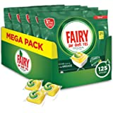 Fairy Original Allin1 Pastiglie Lavastoviglie, 125 Cicli, 5 x 25 Capsule, Detersivo al Limone, Maxi Formato, Rimuove il…