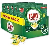 Fairy Original Tutto In Uno Limone, 125 Capsule, Pastiglie Per Lavastoviglie, Efficaci Anche Sul Grasso Incrostato