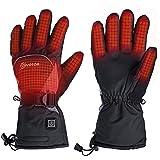 EIVOTOR Uppvärmda handskar, elektriska uppvärmningshandskar med uppladdningsbart batteri för män och kvinnor, vattentäta vint