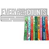 United Medals EVERY LITTLE STEP COUNTS, Sport Medaille Hanger Display | Geborsteld Roestvrij Staal houder medaillehanger (Max