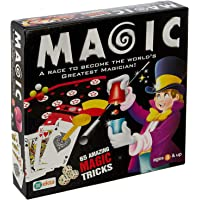 TRUVENDOR ENTERPRISES 65 Tricks A Race to Become The World's Greatest Magician for Kids - Multi Color (101 Tricks)