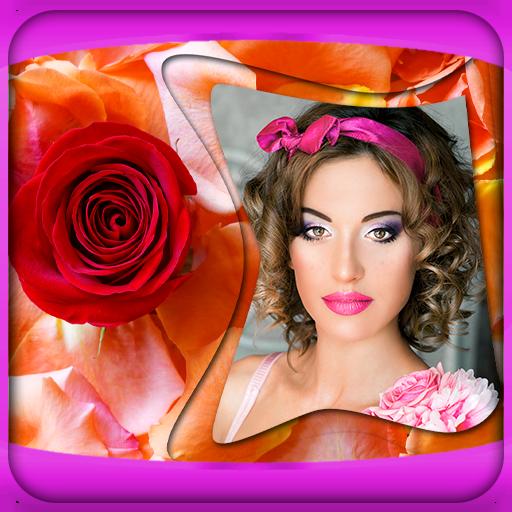 Rosen-Blumen-Bilderrahmen