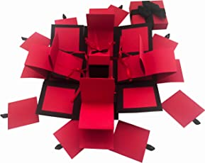 Greeting cards buy greeting cards online at best prices in india crack of dawn crafts 3 layered all occasion explosion box red drama m4hsunfo