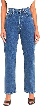 NA-KD Straight High Waist Jeans Donna