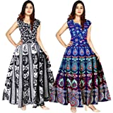 Silver Organisation Cotton Fashion Gowns for Women (Multicolour) Pack of 2 Peice