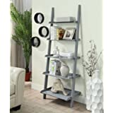 Online Decor Shoppee Ladder Shelf, 5-Tier Foldable Wood Bookshelf, Ladder Bookcase Standing Organizer Storage Shelves Flower