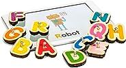 MARBOTIC - SMART LETTERS – Jeu Éducatif Pour Apprendre à Lire – 26 Lettres En Bois Interactives Pour Tablette Tactile iPad ou