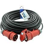 CEE-verlengkabel krachtstroomkabel rubberen verlenging H07RN-F 5G 2,5mm² 400V 16A 25 meter van Kalle DAS kabel
