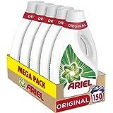 Ariel Detergente Lavadora Líquido, 150 Lavados (Pack 5 x 30), Original