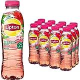 Lipton Hibiscus & Cherry Blossom Herbal Ice Tea verrassend laag in calorieën - 12 flessen - 500 ml - Voordeelverpakking