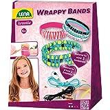 Lena 42652 - Wrappy Bands volledige knutselset voor minstens 3 wikkelarmbanden, 7 silicone bandjes in 5 kleuren, koorden in 4