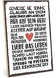TypeStoff Holzschild mit Spruch – SEI EINFACH DU – im Vintage-Look mit Zitat als Geschenk und Dekoration zum Thema…