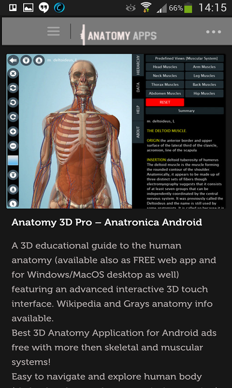 Anatomy Apps: Amazon.co.uk: Appstore for Android