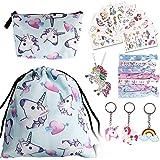 URAQT Eenhoorn koord tas set, 23 stuks eenhoorn geschenken voor meisjes, eenhoorn party gunsten tas vulstoffen voor kinderen,