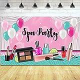 Sfondo Spa Party per Ragazze Trucco Dolce Principessa Rosa Sfondo di Fotografia di Compleanno Spa Tema Sfondo Cabina Fotograf