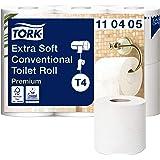 Tork 110405 bardzo miękki papier toaletowy w jakości premium do papieru toaletowego Tork T4 / 4-warstwowy, odporny na rozdarc