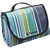 Vakoo Picknickdecke, Wasserdicht 200X200 cm Picknick Decke Extra groß Sandfreie Campingdecke Tragbar mit Tragegriff für Park Reise oder Outdoor Camping (4-6 Personen)