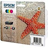 Epson Multipack 603 Etoile de Mer, Cartouches d'Encre d'Origine, 4 Couleurs : Noir, Cyan, Magenta, Jaune, XP-2100 XP-2105 XP-