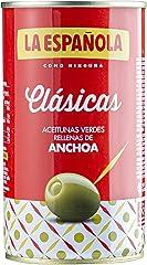 La Española Aceitunas Verdes Rellenas de Anchoa Clásicas, 150g
