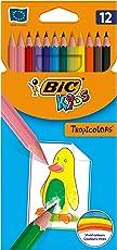 BIC Kids 8325669 Buntstift Tropicolors 2, 12-farbig sortiert, Kartonetui, 12 Stück