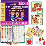 SmartoKids Non-plastic 3-in-1 Games And Puzzles Activity Set, Multicolour, 2-3 Years, 12 Pieces