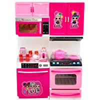 Toyify Playing Kitchen Toy Set for Girls with Sound and Light Doors can be Opend Modular Toy Kitchen ( Toys for Girls / Kitchen Set / Birthday Gift )