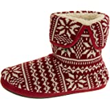 Coolers Mens Knitted Fairisle Slipper Boots