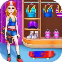 Skateboard Skating Dance Star Girl - Bring out your dancing and skating skills with this free music and sports game